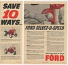 1960 Ford Select-O-Speed Tractors Save 10 Ways 2-Page Ad
