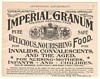 1892 Imperial Granum Medicinal Food for Invalids Ad