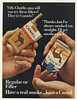 1967 Camel Regular Filter Cigarette Packs Men Hands Ad