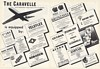 1955 Sud Caravelle Twin Jet Aircraft Equipped Companies 2-Page Ad
