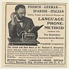 1905 International Language Phone Method Print Ad