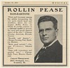 1923 Bass-Baritone Rollin Pease Photo Booking Management Print Ad