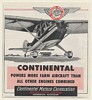 1954 Continental Motors Powers More Farm Aircraft than Other Engines Print Ad