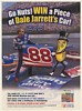 2000 Planters Nuts Win a Piece of Dale Jarrett NASCAR Car Mr Peanut Print Ad