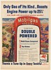1954 Mobilgas Special Gasoline Pump Double Powered Mountain Driving Print Ad