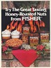 1988 Fisher Honey Roasted Nuts Fireplace Christmas Print Ad