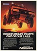 1985 Roger Mears Pilots One of Our Labs Nissan Racing Pickup Truck Print Ad