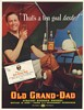 1937 Old Grand-Dad Bourbon Whiskey Polo Game Man Ten Goal Taste Print Ad