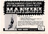 1974 Mario Manzini Escape Artist Booking Trade Print Ad