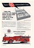 1958 American LaFrance Fire Engine Spartan Pumper Water Tank Construction Ad