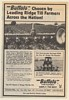 1987 Buffalo Planter Cultivator Chosen by Leading Ridge Till Farmers Print Ad