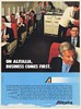 1982 Alitalia Airlines Business Class Comes First International Flights B747 Ad