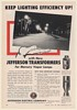 1952 Jefferson Electric Transformers for Mercury Vapor Street Lamps Print Ad