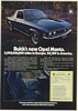 1973 Buick Opel Manta Luxus Coupe $2,769 in America Print Ad