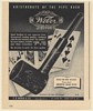 1947 Weber Poker Old Standard Pipe Imported Briar Poker Hand Cards Print Ad