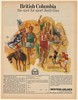 1970 Western Airlines British Columbia Festival of Sports Print Ad