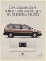 1995 Nissan Quest GXE Van Sophistication Gets You to Baseball Practice Print Ad