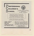 1961 Professional Children's School NY for Superior Talented Students Print Ad