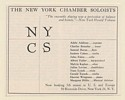 1961 The New York Chamber Soloists Musician List Booking Print Ad