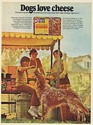 1971 Golden Retriever Ken-L Ration Cheese Flavored Burger Dog Food Print Ad