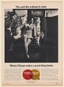 1971 Master Charge Credit Card The Can't Live Without It Chair Print Ad