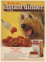 1971 Chuck Wagon Instant Dinner Dog Food Terrier Print Ad