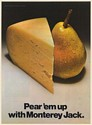 1971 Pear 'em Up with Monterey Jack Cheese Milk Producers of California Print Ad