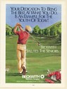 1989 Beckwith Machinery Co Salutes Senior Golf Golfer Illustration Print Ad