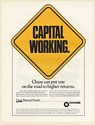 1989 Chase Vista Mutual Funds Capital Working on Road to Higher Returns Print Ad