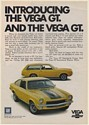 1971 Chevy Vega GT Hatchback Coupe and Kammback Wagon Print Ad