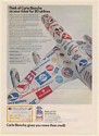 1971 Carte Blanche Credit Card Your Ticket for 80 Airline Logos Plane Print Ad