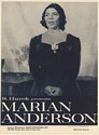 1961 Marian Anderson Photo Management Booking Print Ad