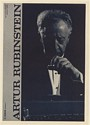 1961 Artur Rubinstein Pianist Photo Booking Print Ad