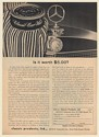 1966 Mercedes-Benz Hood Ornament Is It Worth $5.00 Classic Car Wax Print Ad
