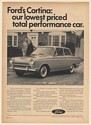 1966 Ford Cortina 2-Door Sedan Our Lowest Priced Total Performance Car Print Ad