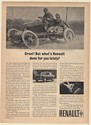 1963 Renault R-8 Louis Renault 1903 Paris-Madrid Race Car Print Ad