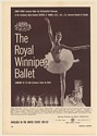 1961 The Royal Winnipeg Ballet Photo Booking Print Ad