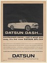 1963 Datsun SPL-310 Sports Car Dash Excitement Verve Print Ad