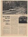 1963 Chrysler 300-J Road Test 3-Page Article