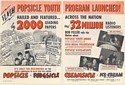 1948 Bob Feller Popsicle Youth Program Launched Joe Lowe 2-Page Trade Print Ad