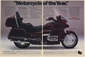 1989 Honda Gold Wing GL 1500/6 Motorcycle in Wineberry Red 2-Page Print Ad