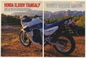 1989 Honda XL600V Transalp Motorcycle 8-Page Test Article