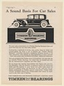 1930 Timken Tapered Roller Bearings A Sound Basis for Car Sales Canton Print Ad