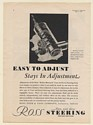 1930 Ross Gear & Tool Co Roller-Mounted Cam and Lever Steering Gear Print Ad
