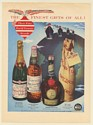 1951 Bollinger Champagne Peter Dawson Scotch Benedictine DOM Dry Sack in Sack Ad