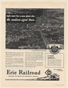 1951 Erie Railroad Medium-Sized Town Right Start for a New Plant Site Print Ad