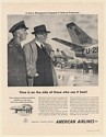 1951 American Airlines Airfreight Defense Production USAF Jet Aircraft Print Ad
