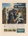1951 Military Soldiers Mortar Weapon On Target Udylite Metal Plating Print Ad