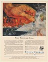 1951 Union Carbide Firemen Wetter Water Unox Penetrant Chemical Print Ad
