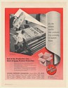 1951 Gaylord Boxes Printer-Slotter Machine Tide Detergent Cartons Print Ad